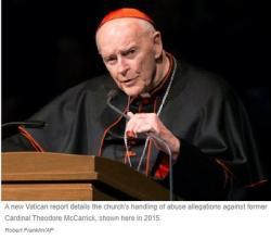Báo Cáo Của Vatican Cho Biết  GH John Paul II Đã Biết Về Những Cáo Buộc Chống Lại Cựu Hồng Y McCarrick
